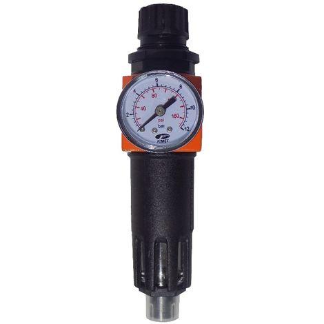 """Filtro regolatore riduttore di pressione aria per compressore 3//8/"""" tazza metallo"""