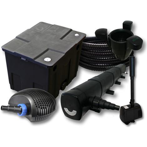 Filtro Set 12000l Estanque 72W Clarificador CTF ECO 40W Bomba 25m Tubo Skimmer SK40 Bomba Fuente