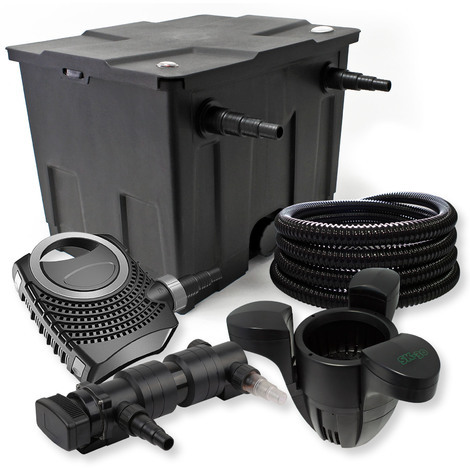 Filtro set estanque 12000l 18W UVC Clarificador NEO8000 Bomba Tubo Skimmer jardin