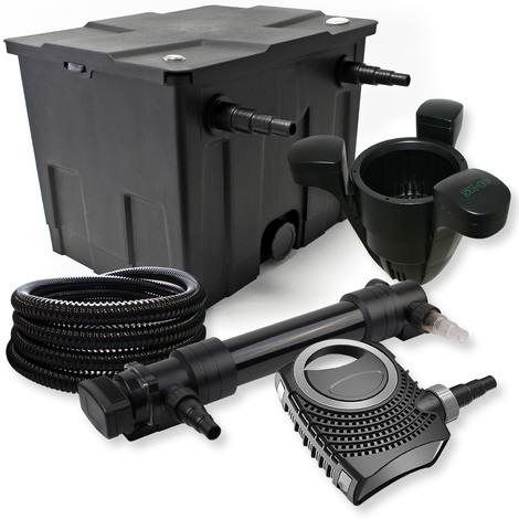 Filtro set estanque 12000l 36W UVC Clarificador NEO10000 80W Bomba Tubo Skimmer jardin