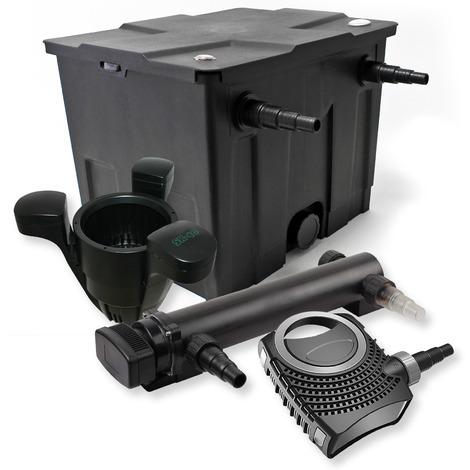 Filtro set estanque 12000l 36W UVC Clarificador NEO8000 70W Bomba Skimmer jardin