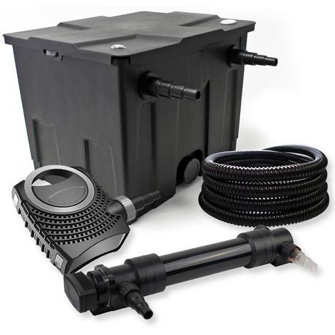 Filtro set estanque 12000l 36W UVC Clarificador NEO8000 70W Bomba Tubo jardin