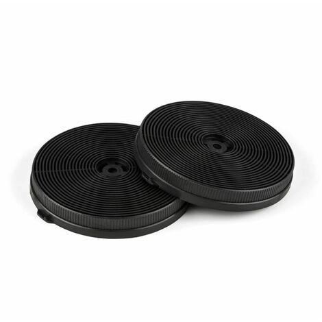 Filtros de carbón activo para campana extractora 2 filtros Circulación de aire Ø18,5 cm