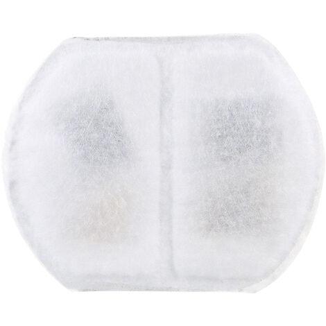 Filtros de recambio para mascotas Fuente de agua Filtro de carbon activado de algodon para mascotas Suministros 1PCS, blanca