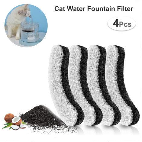 Filtros para fuentes de agua transparentes para gatos de 61OZ / 1.8L, filtros para fuentes de mascotas, filtro de carbon activado, filtro de repuesto para fuentes para gatos