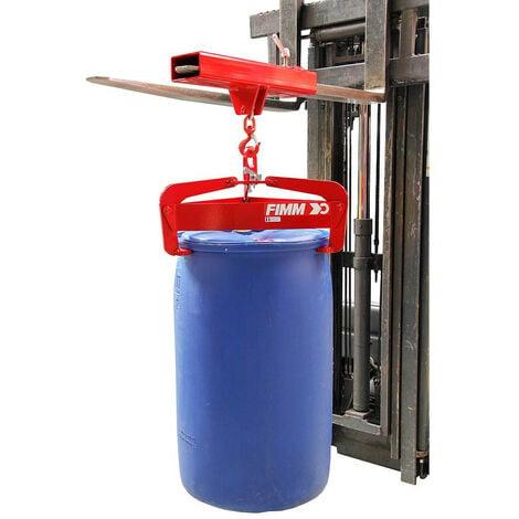 Fimm - Pince à fût semi-automatique charge 600 kg métallique ou plastique 200 - 220 L