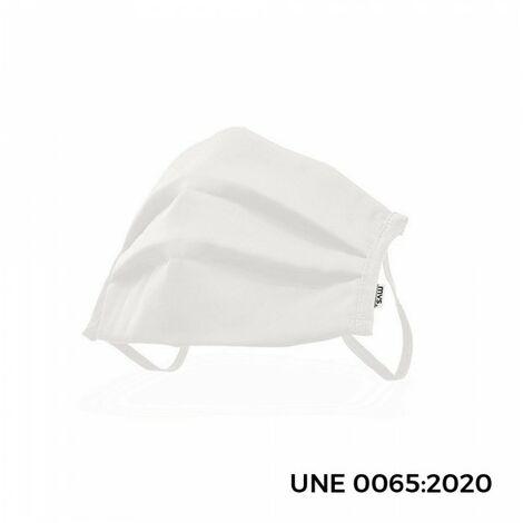 *fin de serie* masque antibacterien reutilisable taille l couleur blanc.
