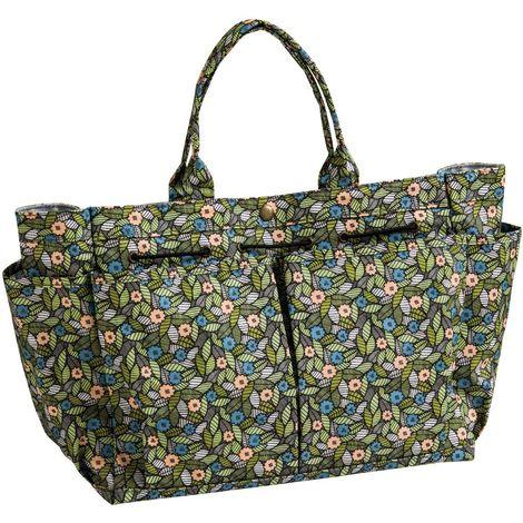 Finchwood felicity gardening tool bag,100% cotton, multi coloured