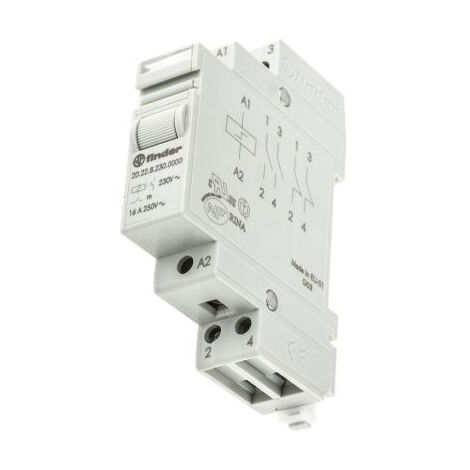 """main image of """"FINDER 20.22 Relais 230Vac step relay 2Cts 16Amp CARRIL 20.22.8.230.000000"""""""