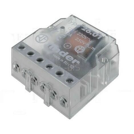 FINDER 26.02 Telerruptor 24Vac 2ctos NA 10Amp