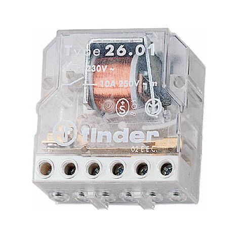 Finder 26.03.8.230.0000 10A Step Relay 230VAC SPST-NO & SPST-NC