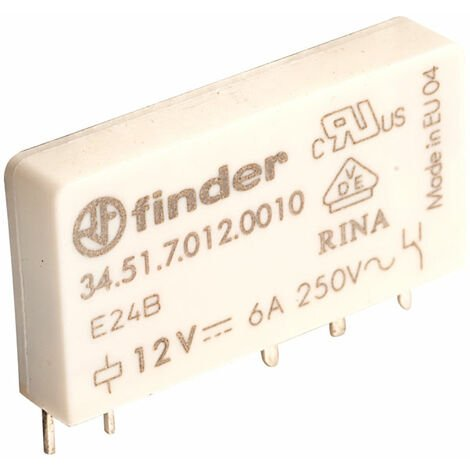 Finder 34.51.7.012.0010 12V Relay SPDT 6A Ultra Slim (34.51 Series)
