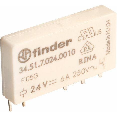 Finder 34.51.7.024.0010 24V Relay (UltraSlim) SPDT 6A 34.51