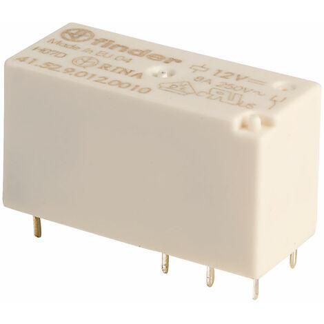 Finder 41.52.9.012.0010 12V Relay (Low Profile) DPDT 8A 41.52