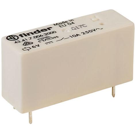 Finder 43.41.7.006.2000 6V Relay SPDT DC 10A (43.41 Series)