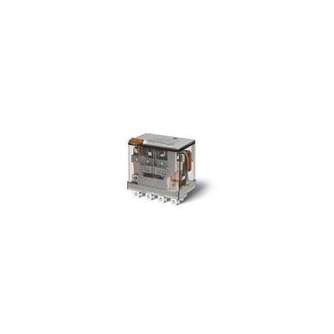 Finder 56.34.8.048.0040 - Relais embrochable 4RT 12A 48VAC Bouton Test + Indicateur Mécanique