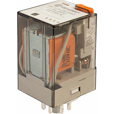 Finder 60.12.8.230.0040 230V Relay Octal Base Fitting DPDT AC
