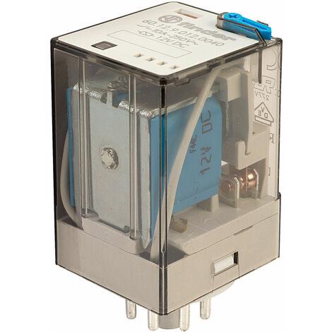 Finder 60.12.9.012.0040 12V Relay DPDT DC Octal Base Fitting
