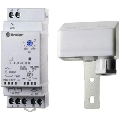 Schema Elettrico Interruttore Crepuscolare 230v : Finder interruttore crepuscolare attacco din moduli v