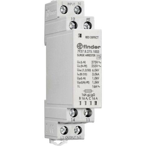Finder Überlastschalter Grau 16A 1 Wechsler 230V Leiter-Typ = L, PE, N 7P.37.8.275.1003 S058631