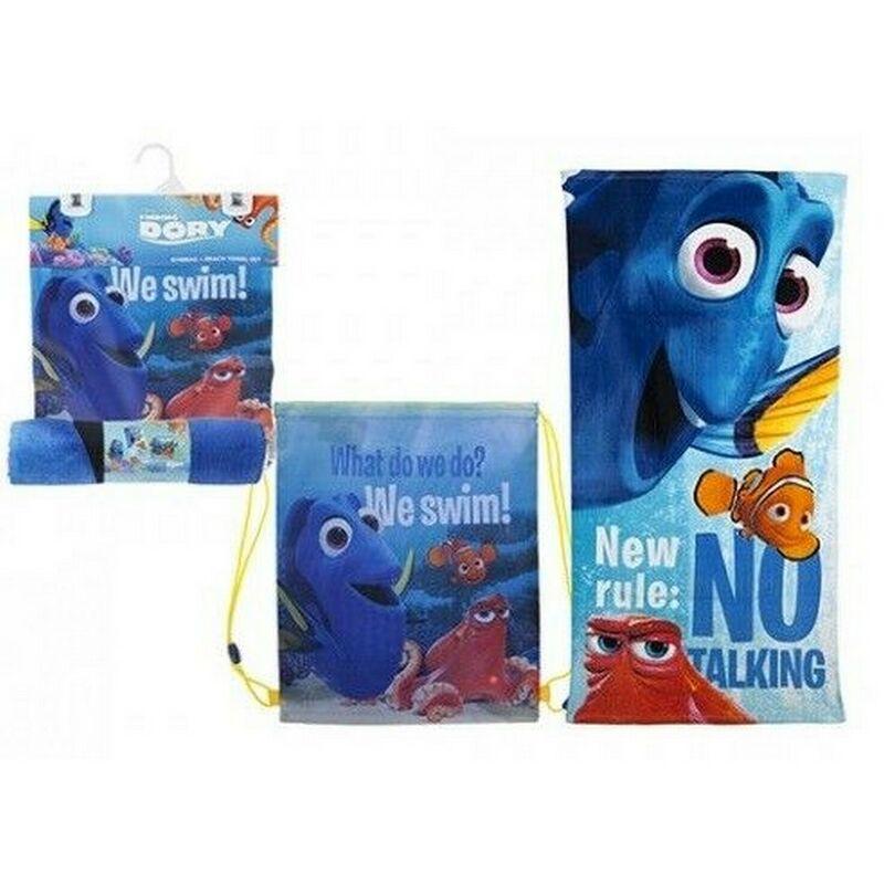 Image of Drawstring Bag Set (One Size) (Blue/Orange/Red) - Finding Dory