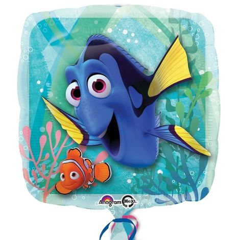 Finding Dory Marlin Square Foil Balloon (One Size) (Multicoloured)