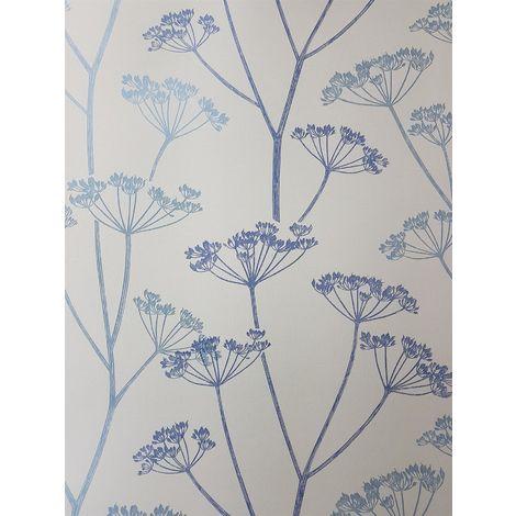 Fine Decor Albury Blue Brasilia Flower Wallpaper