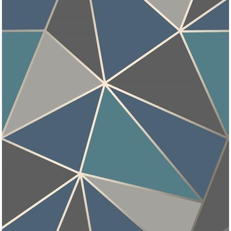 Fine Decor Apex Geometric Wallpaper Luxury Heavyweight Metallic Modern 3 Colours