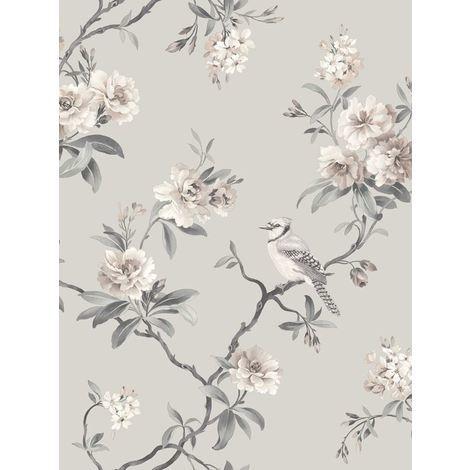 Fine Decor Chinoiserie Wallpaper in Silver FD40764