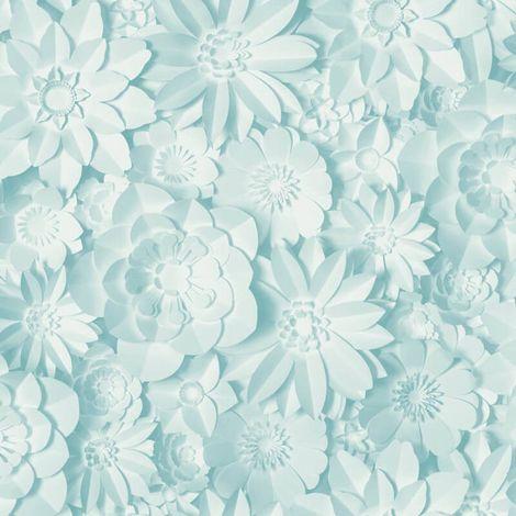 Fine Decor Dimensions Floral Blue Wallpaper