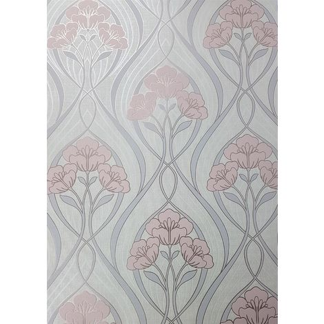 Fine Decor Evelyn Floral Blush Wallpaper