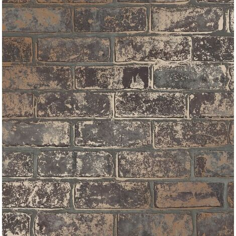 Fine Décor FD41955 Loft Brick Wallpaper, Brown