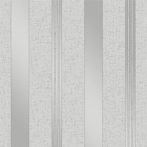 Fine Décor FD41967 Quartz Stripe Wallpaper, Silver