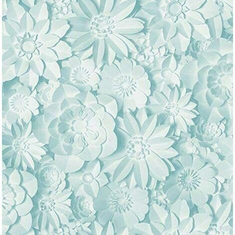 Fine Décor FD42598 Dimensions Floral Teal Wallpaper…