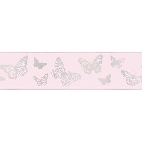 Fine Decor Glitter Glitz Pink Sparkle Butterfly Girls Bedroom Wallpaper ...