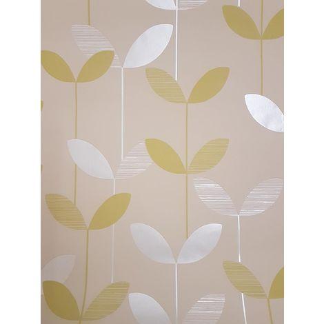 Fine Decor Green Leaf Wallpaper