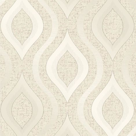 Fine Decor Heavyweight Blown Vinyl Wallpaper Quartz Geo Gold FD41973