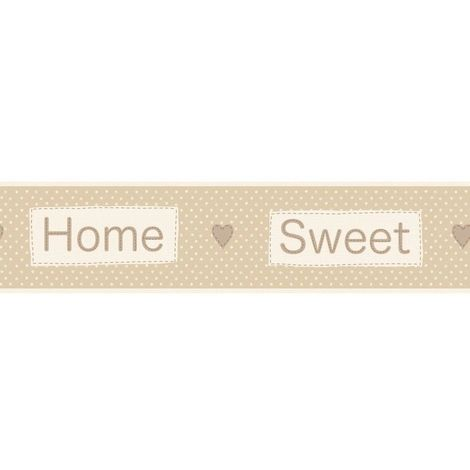 Fine Decor Home Sweet Home Beige Wallpaper Border