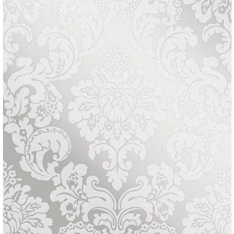 Fine Décor Monaco Damask Silver Wallpaper