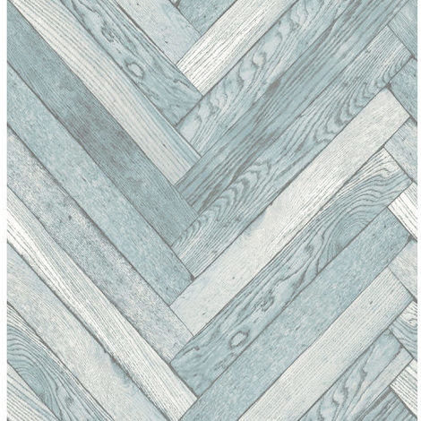 Fine Decor Parquet Wood Wallpaper Blue FD40883