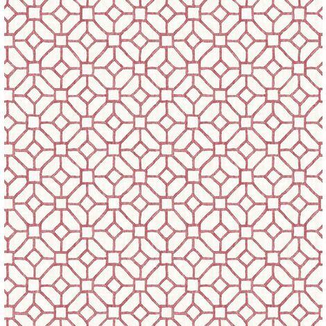 Fine Decor Red Geometric Ami Gigi Washable Wall Covering Modern Non Woven