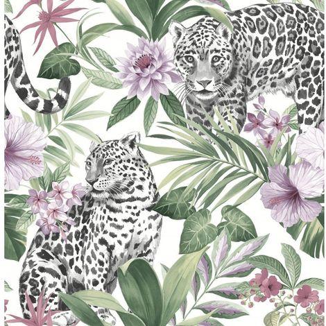Fine Decor Tropica Leopard Wallpaper
