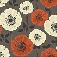 Fine Decor Wallpaper Poppie Brown FD14869