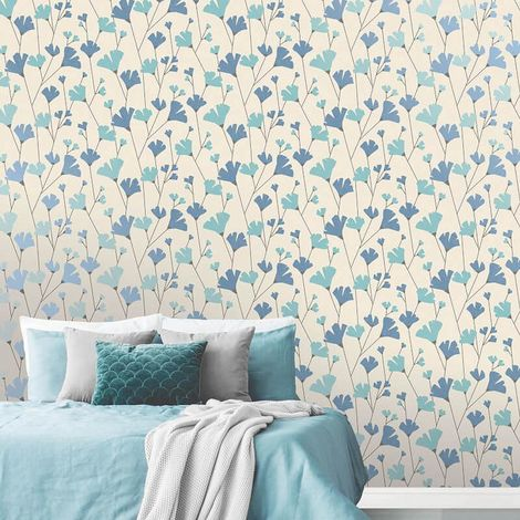 Fine Decor Wallpaper Scandi Blue M1525