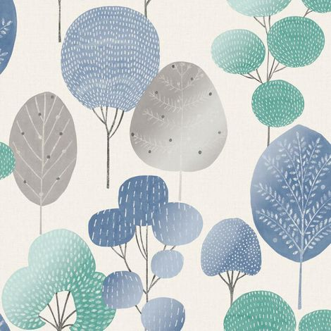Fine Decor Wallpaper Scandi Forest Blue M1526