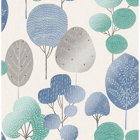 Fine Decor Wallpaper Scandi Forest Blue M1526