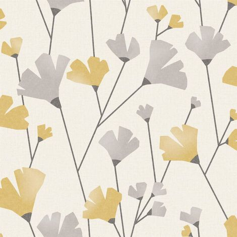 Fine Decor Wallpaper Scandi Mustard M1529