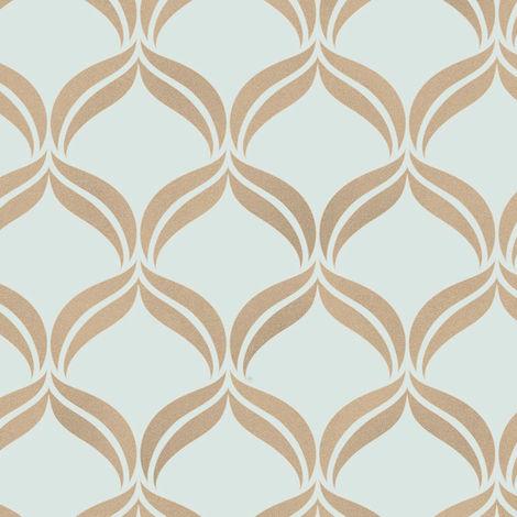 Fine Decor Wallpaper Wentworth Blue FD41711