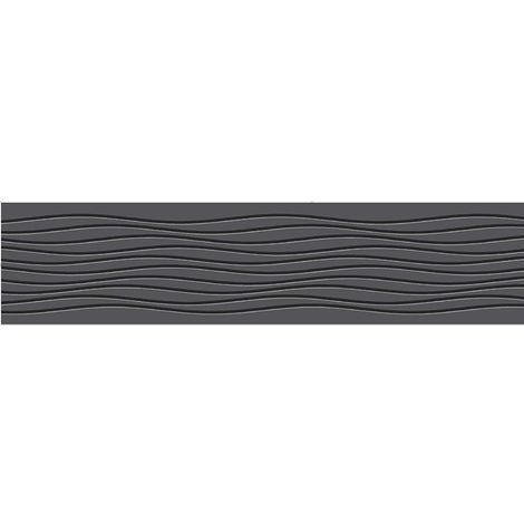 Fine Decor Wave Vinyl Black Wallpaper Border Wl Fdb07516s