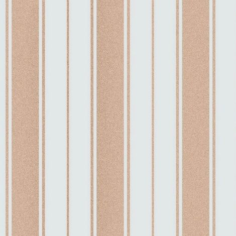 Fine Decor Wentworth Glitter Wallpaper Stripe Duck Egg & Gold FD41710